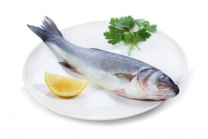 Sea bass with lemon with lemon